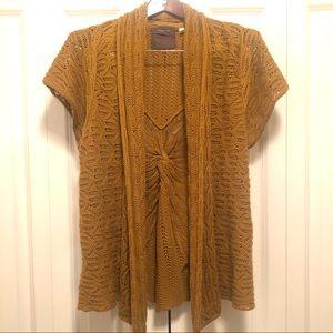 Anthropologie-Guinevere Open-Knit, short sleeve